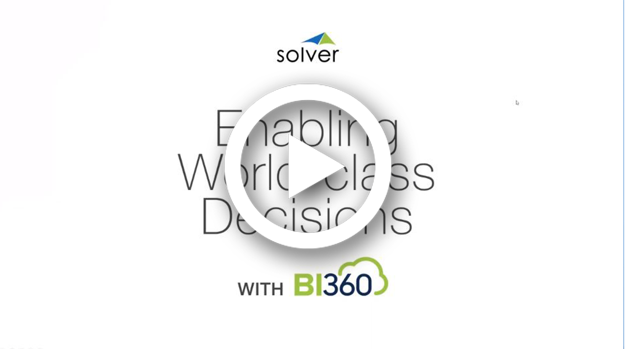 Enabling World-Class Decisions with BI360 Budgeting