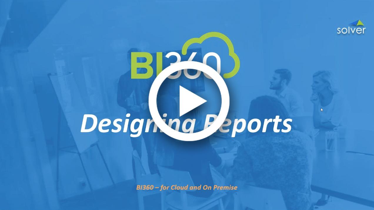 BI360 Reporting Demo