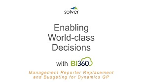 BI360 Management Reporter Replacement and Advanced Budgeting for Dynamics GP