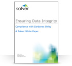 <p>Ensuring Data Integrity - Compliance with Sarbanes Oxley (Whitepaper)</p>
